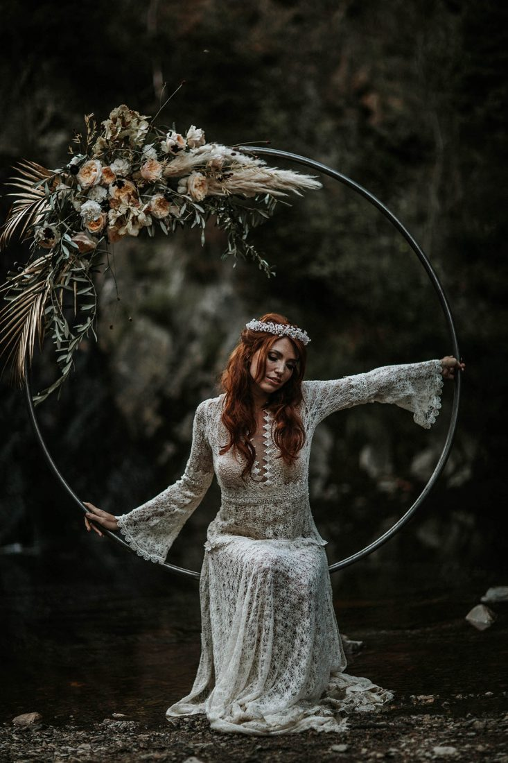 bruidsjurk van kant