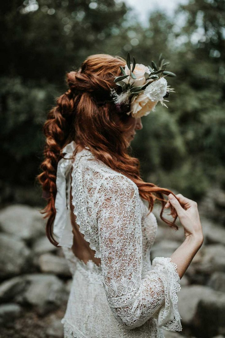 Bohemian trouwjurk van kant
