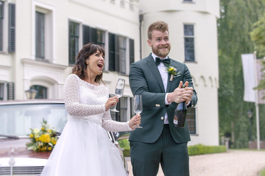 bruidsjurk met kant